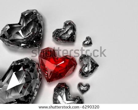 heart brilliants - stock photo