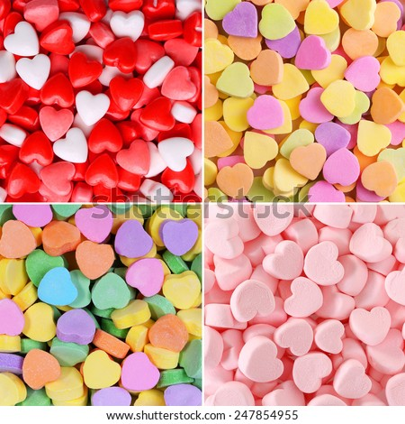 Heart Candy Background Collection. Valentines Day  - stock photo