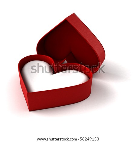 Heart case - stock photo