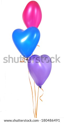 Heart colorful balloons - stock photo