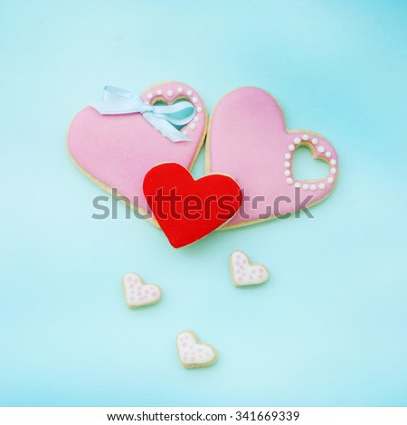 Heart cookies gift for Fathers day, Mothers day or Valentines day