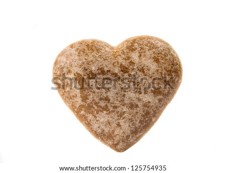 heart cookies isolated on white background