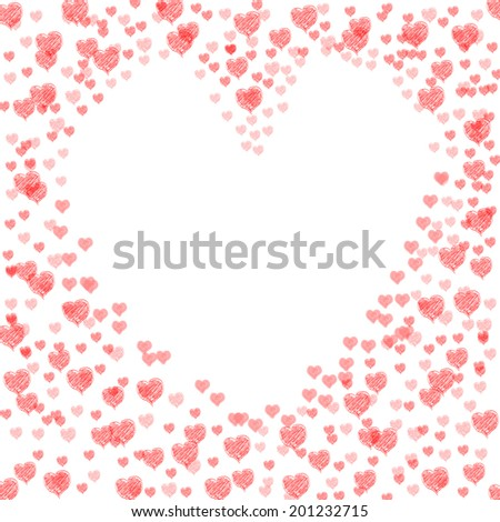 Heart Copyspace Representing Valentines Day And Affection - stock photo