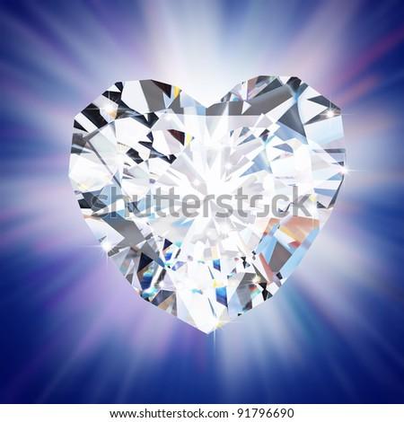 heart diamond - stock photo