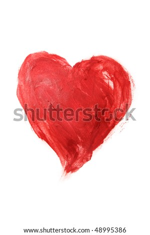 heart drawn on a white background - stock photo