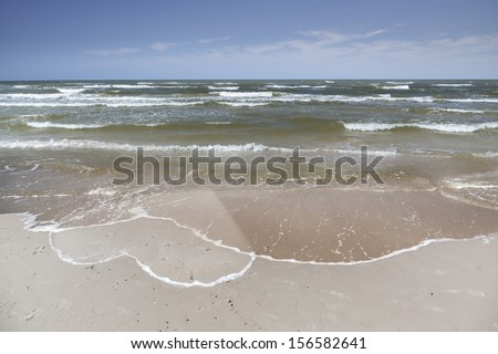 Heart drawn on the beach sand - Holiday Love - Long distance relationship - Concept - stock photo