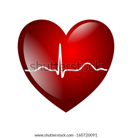 heart electrocardiogram - stock photo