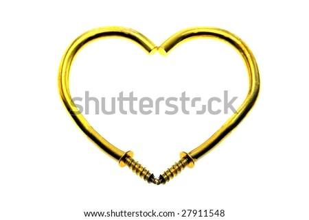 heart-Entangled Hooks - stock photo