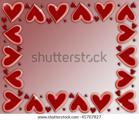 heart frame - stock photo