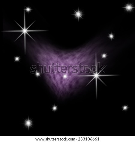 Heart galaxy - stock photo