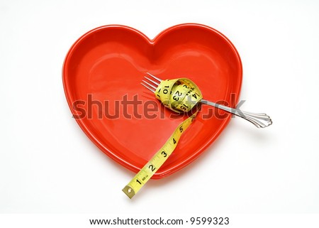 Heart Health concept - healthy eating and weight loss. - stock photo