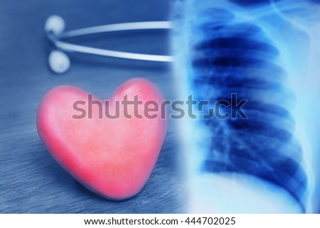 heart healthy background - stock photo