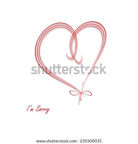 Heart - I'm Sorry - stock photo