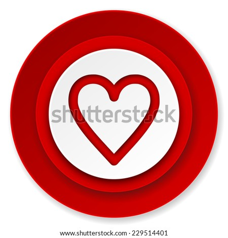 heart icon, love sign  - stock photo