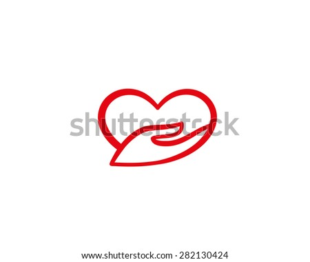 Heart Hand Symbol Charity Love Logo Stock Illustration 282130424