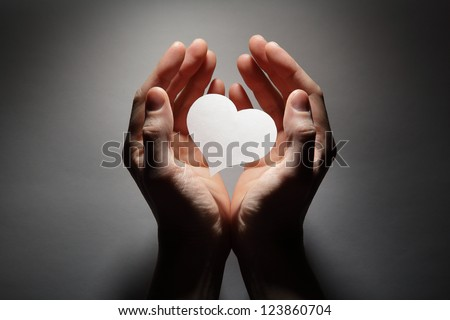 Heart in palm
