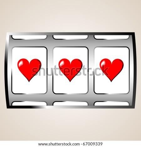 Heart jackpot - stock photo
