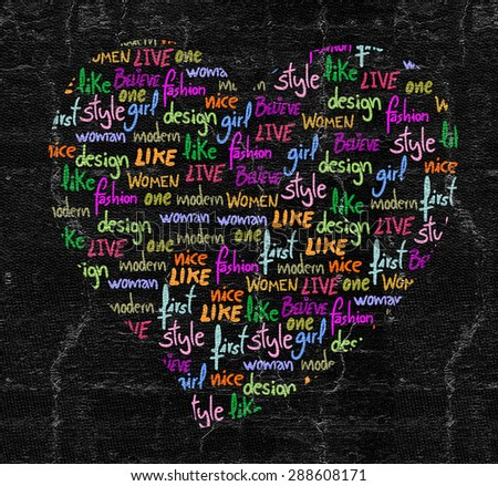 Heart letters - stock photo