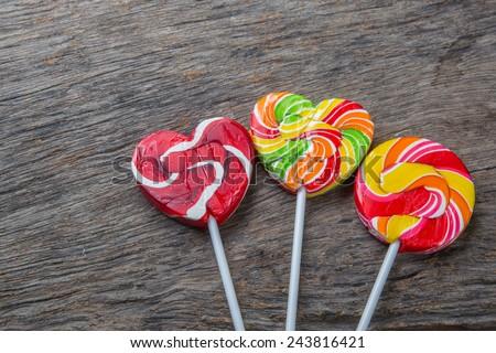 heart-lollipop, candy, concept love, valentine - stock photo