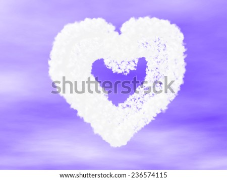 heart made of cloud  - stock photo