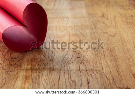 heart made of red glitter paper valentine theme background