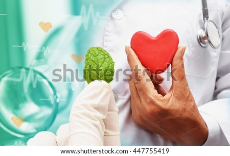 heart medicine research at science lab - stock photo