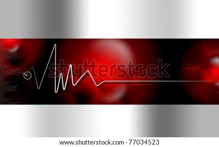 Heart monitor, ECG Electrocardiogram - stock photo