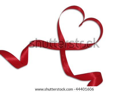 Heart of a red bow