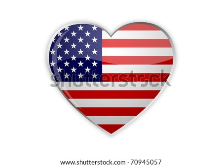 Heart of America - stock photo