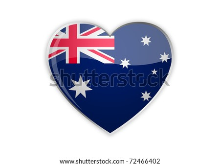 Heart of Australia - stock photo