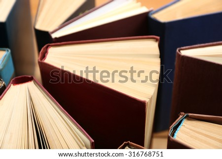 Heart of books, close up - stock photo