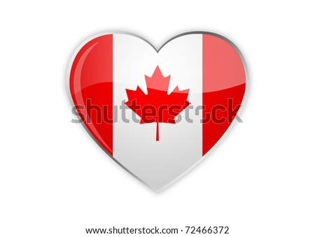 Heart of Canada - stock photo