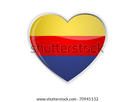 Heart of Columbia - stock photo