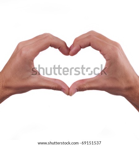 Heart of folded hands