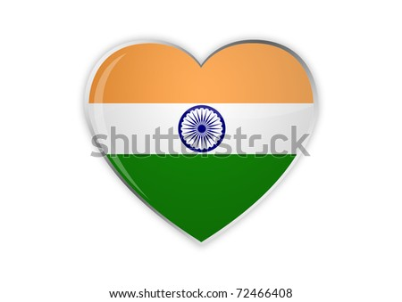 Heart Of India - stock photo