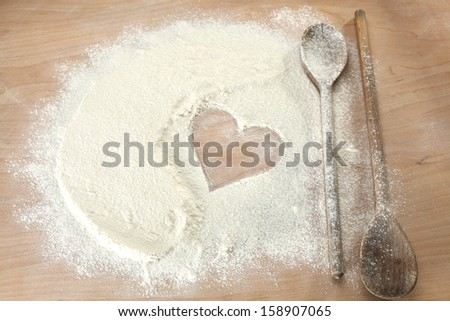 heart of kitchen  - stock photo