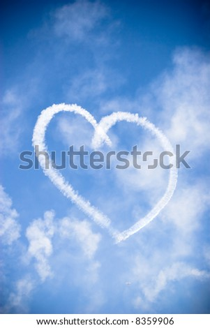 heart of love in the sky