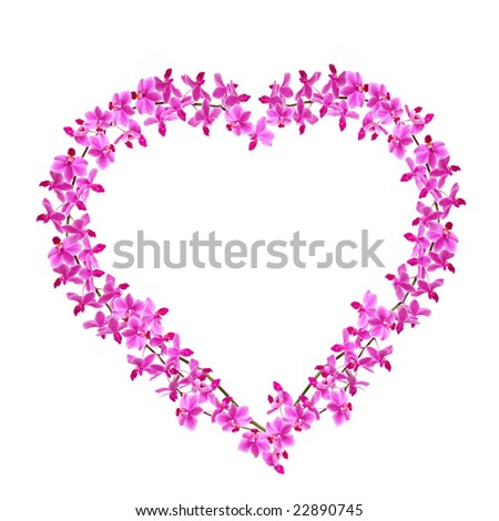 Heart of Orchids - stock photo