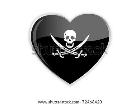 Heart Of Pirate - stock photo