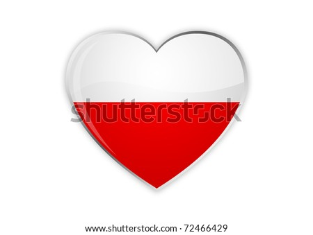 Heart Of Poland - stock photo