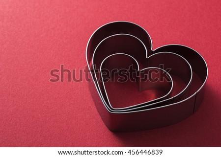 Heart of punching die - stock photo