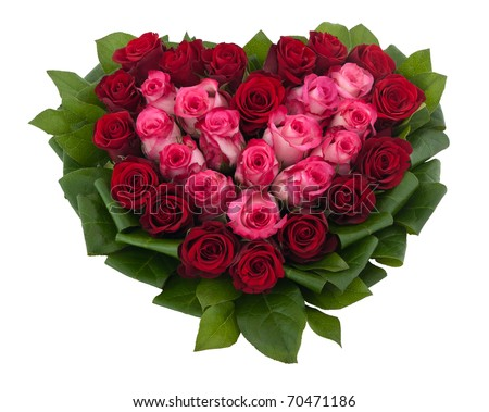 heart of roses - stock photo