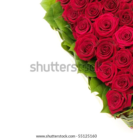 heart of roses, red roses - stock photo