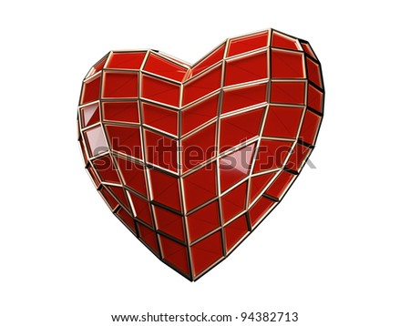Heart of spider-man isolated - stock photo