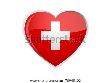Heart of Swiss - stock photo