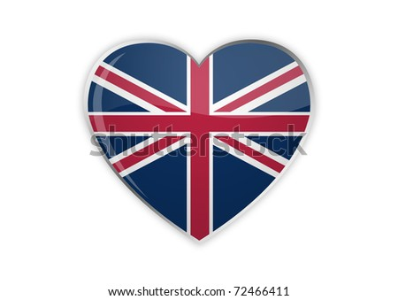 Heart Of UK - stock photo