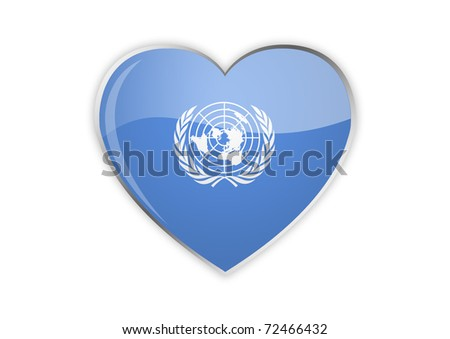 Heart Of UN - stock photo