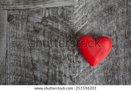 Heart on a grey wooden background  - stock photo
