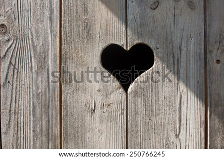 heart on a wooden door  - stock photo