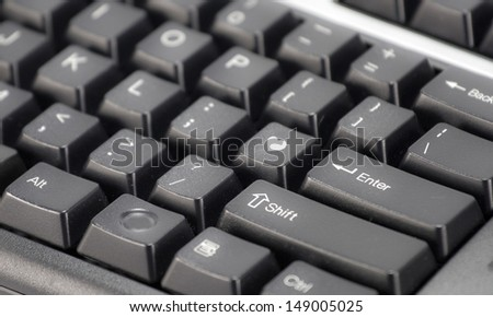 Heart on black keyboard